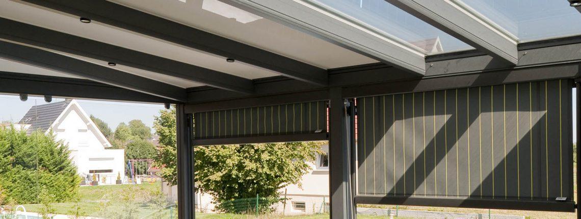 Une couverture de terrasse modulable à Schlierbach