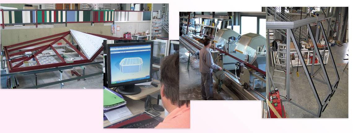 Sylalu : atelier de fabrication de 1500 m2 pour les vérandas, pergolas et fermetures alu Sylstor